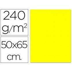 Cartulina Liderpapel color amarillo limon 240 g/m2