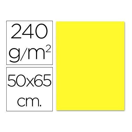 Cartulina Liderpapel amarillo 240 g/m2