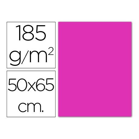 Cartulina fucsia Guarro 500 x 650 mm 185 g/m2