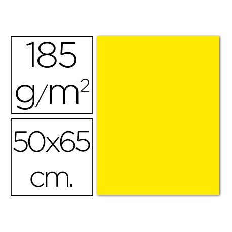 Cartulina Guarro amarillo canario 500 x 650 mm 185 gm2