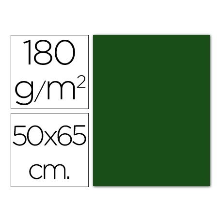 Cartulina Guarro verde abeto 500 x 650 mm 185 g/m2