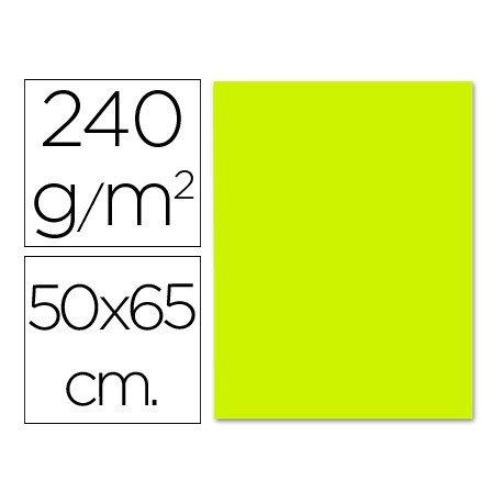 Cartulina Liderpapel verde pistacho 240 g/m2