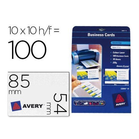 Tarjetas de visita Avery 200 g