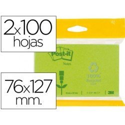 Bloc quita y pon Post-it ® 76 x 127 mm.