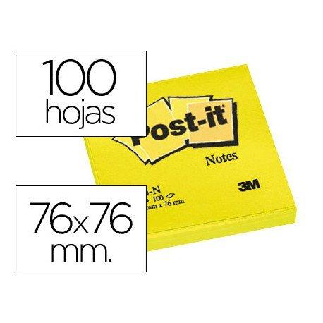 Bloc quita y pon Post-it ® amarillo neon 76 x 76 mm