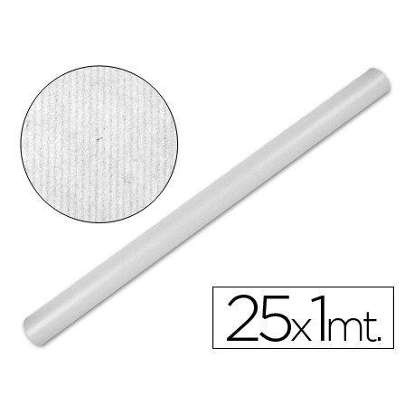 Bobina papel kraft Liderpapel 25 x 1 m blanco