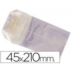 Bolsas de celofan 45x210 mm. Paquete de 100 unidades.