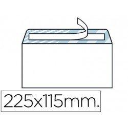 Sobre N.5 Liderpapel, blanco americano 115x225mm tira de silicona open system caja de 500 unidades.