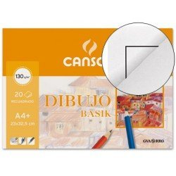 Bloc de dibujo Canson Din A4 encolado 130 g/m2