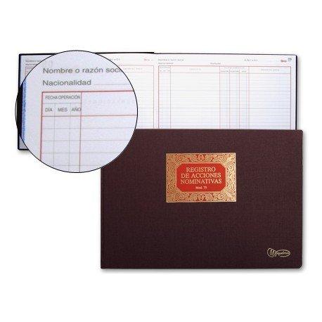 Miquelrius Libro Registro de Acciones tamaño Folio apaisado
