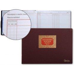 Miquelrius Libro Registro de socios para S.R.L , tamaño folio apaisado