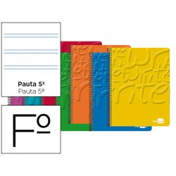 Bloc Liderpapel folio Write pauta estrecha 2,5 mm