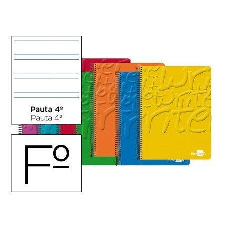 Bloc Liderpapel folio Write pauta ancha 3,5 mm