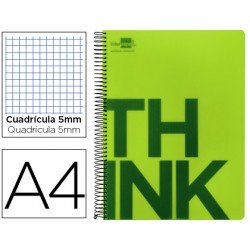 Bloc Din A4 Liderpapel serie Think cuadricula 5 mm verde