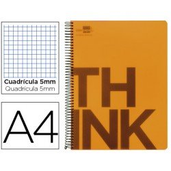 Bloc Din A4 Liderpapel serie Think cuadricula 5 mm naranja