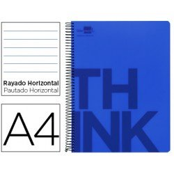 Bloc Din A4 Liderpapel serie Think rayado azul