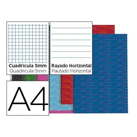 Surtido Bloc Din A4 espiral Microperforado Tapa forrada serie Multilider Liderpapel