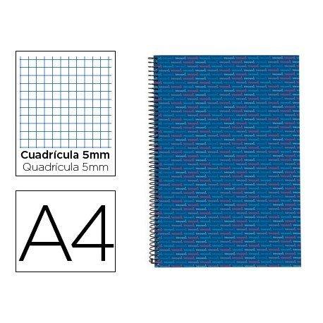 Bloc Din A4 espiral Microperforado Tapa forrada serie Multilider Liderpapel azul