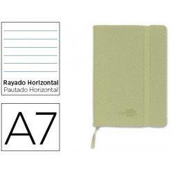 Cuaderno Liderpapel Din A7 encolada Tapa simil piel