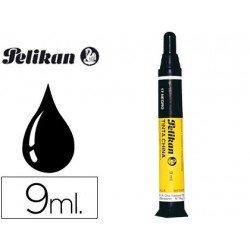 Tinta china negra con cargador Pelikan