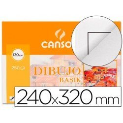 Papel dibujo Canson din a4 gramaje 130 g/m2 Pack 10 hojas
