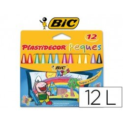 Lapices cera Plastidecor 12 Lapices