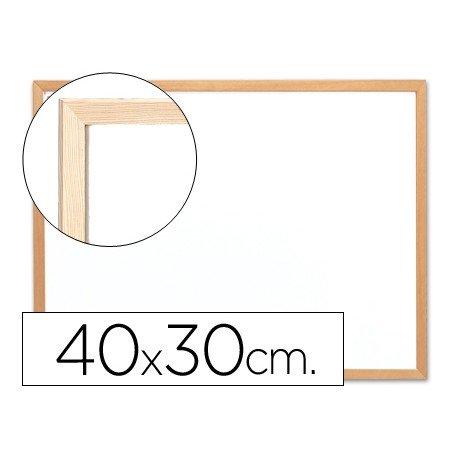Pizarra Blanca Melamina con marco de madera 40x30 Q-Connect