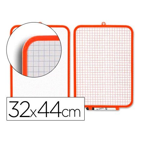 Pizarra Blanca Lacada Doble Cara 32x44 Csp