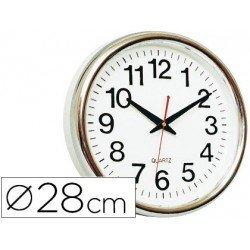 Reloj de pared plastico 30 cm marco dorado