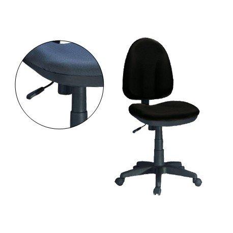 Silla de oficina giratoria con respaldo medio Q-Connect negra