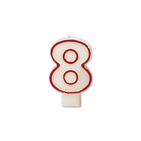 Velas numero 8