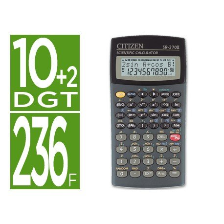 Calculadora Cientifica Citizen SR-270N 12 digitos