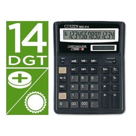 Calculadora Sobremesa Citizen SDC-414N 14 dígitos