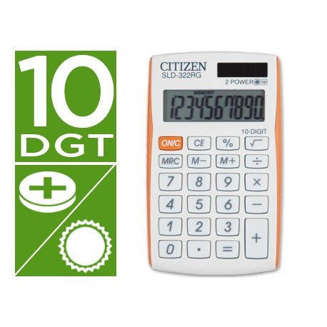 Calculadora Bolsillo Citizen SLD-322RG 8 digitos