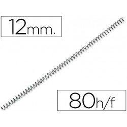 Espiral metalica Q-connect paso 64 12 mm