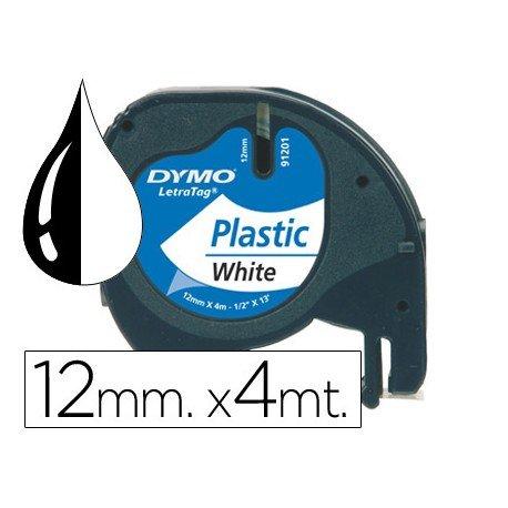Cinta Dymo Letratag Blanco Perla Plástico