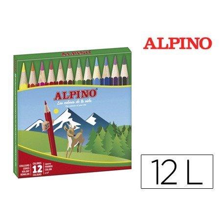 Lapices Colores Alpino 652 Cortos