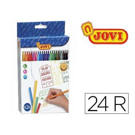 Rotulador Jovi fino lavable caja de 24 rotuladores