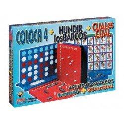 Juego de Mesa Cuatro en linea + Cual es cual + Hundir los barcos Falomir Juegos