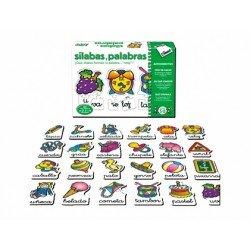 Puzzle educativo de 5 a 8 años Silabas y palabras Diset