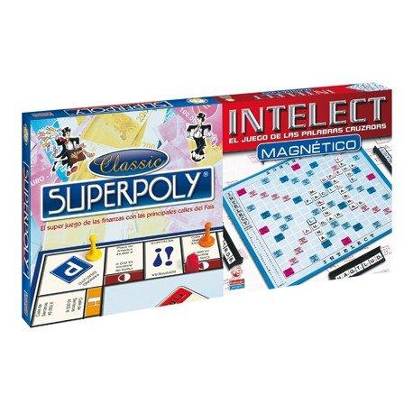 Juego de mesa Superpoly + Intelect magnetico Falomir Juegos