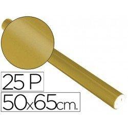 Papel metalizado Sadipal rollo 25 pliegos oro 65g/m2 50x16,25 m