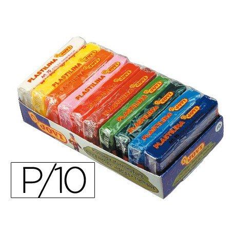 Plastilina Jovi colores surtidos pequeña Paquete 10 unidades