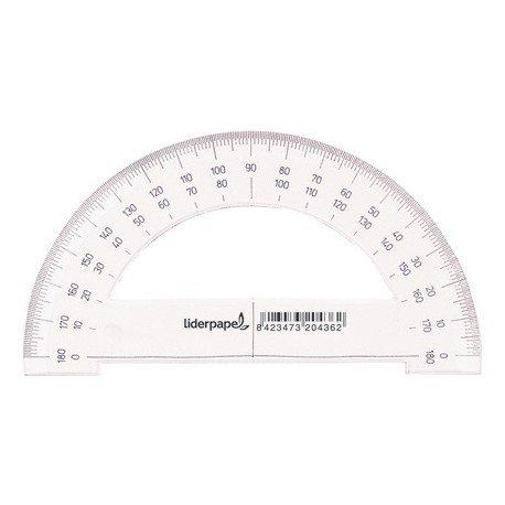 Semicirculo plastico Liderpapel 14 cm