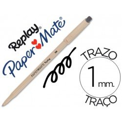 Boligrafo Borrable Paper mate Replay III con goma incorporada negro 1 mm