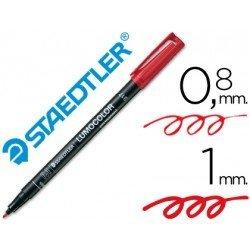 Rotulador Retroproyección Permanente Staedtler Lumocolor 317 Rojo Punta Superfina Redonda