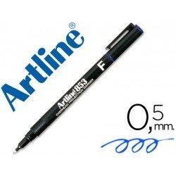 Rotulador retroproyección Artline EK-853 Permanente Azul Punta Redonda