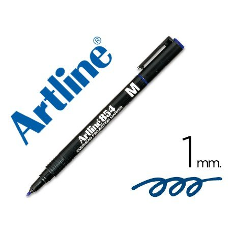 Rotulador retroproyección Artline EK-854 Permanente Azul Punta Redonda