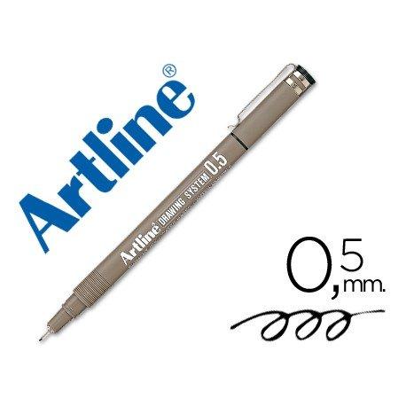 Rotulador Artline calibrado micrometrico negro 0,5 mm