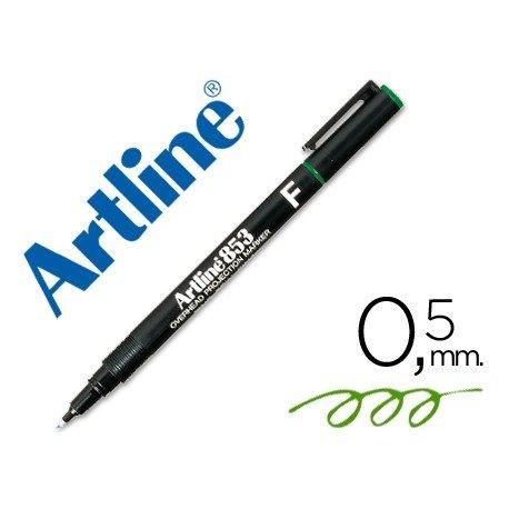 Rotulador retroproyección Artline EK-853 Permanente Verde Punta Redonda